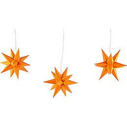 Erzgebirge-Palace Moravian Star Set of Three Orange incl. Lighting - 17 cm / 6.7 inch