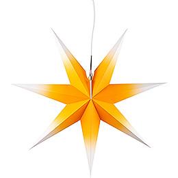 Erzgebirgischer Fensterstern gelb-weiß - 53 cm