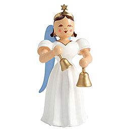 Faltenlangrockengel Glocken, farbig - 6,6 cm