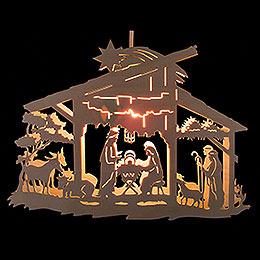 Fensterbild Christgeburt im Stall - 25 cm