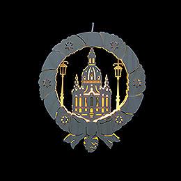 Fensterbild Frauenkirche - Durchmesser 31,5 cm