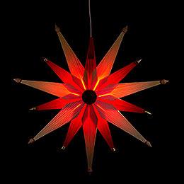 Fensterbild Weihnachtsstern Natur - 47 cm