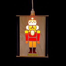 Fensterlaterne Nussknacker - 27 cm