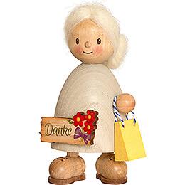 Finja mit Danke-Schild - 9 cm