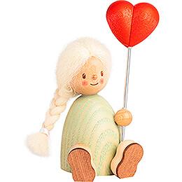 Finja with Heart Balloon - 9 cm / 3.5 inch