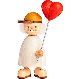 Finn with Heart Balloon - 9 cm / 3.5 inch