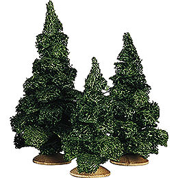 Fir Tree without Trunk, Set of Three - 13 cm / 5.1 inch