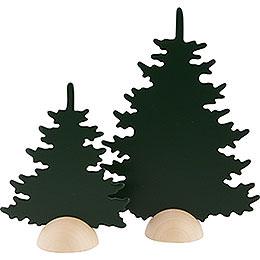 Fir Trees - 2 Pieces - Green - 20 cm / 8 inch