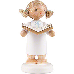 Flax Haired Angel Little with Music Book - 5 cm / 2 inch