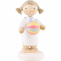 Flax Haired Angel with Ball - 5 cm / 2 inch