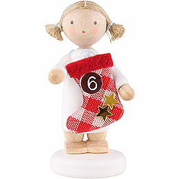 Flax Haired Angel with Boot (6) - 5 cm / 2 inch