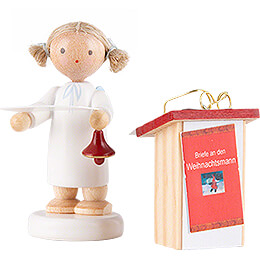 Flax Haired Angel with Desk - 5 cm / 2 inch
