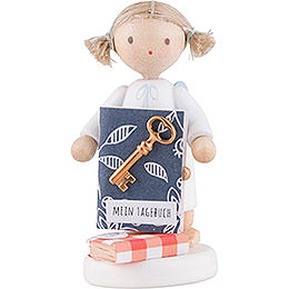 Flax Haired Angel with Diary - 5 cm / 2 inch