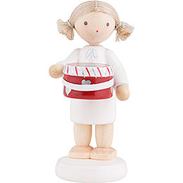 Flax Haired Angel with Hat Box - 5 cm / 2 inch