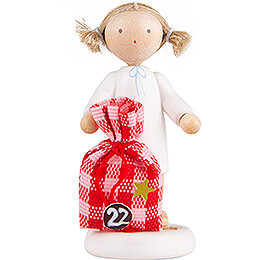 Flax Haired Angel with Little Sack (22) - 5 cm / 2 inch