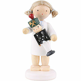 Flax Haired Angel with Miner - 5 cm / 2 inch