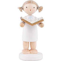 Flax Haired Angel with Music Book - 5 cm / 2 inch