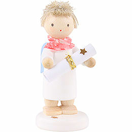 Flax Haired Angel with Poem Roll (Poem