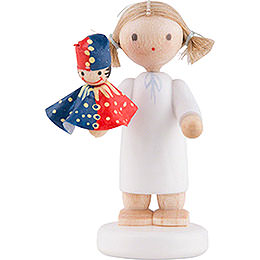 Flax Haired Angel with Punch - 5 cm / 2 inch