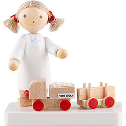 Flax Haired Angel with VERO-SCOLA Toy  - 5 cm / 2 inch