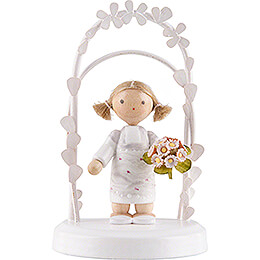 Flax Haired Children - Birthday Child with Roses - 7,5 cm / 3 inch