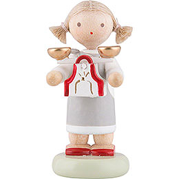 Flax Haired Children Girl with Scales - 5 cm / 2 inch