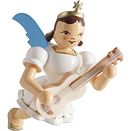 Floating Angel with Guitar - Colored - 6,6 cm / 2.6 inch