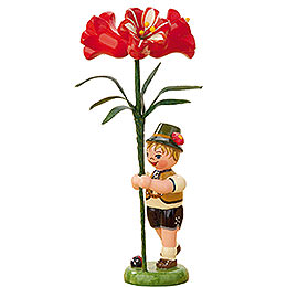 Flower Child Boy with Amaryllis - 11 cm / 4,3 inch