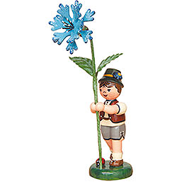 Flower Child Boy with Cornflower - 11 cm / 4,3 inch