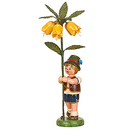 Flower Child Boy with Imperial Crown - 17 cm / 7 inch
