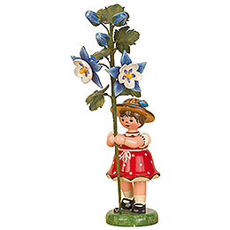 Flower Child Girl with Columbine - 17 cm / 7 inch