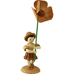 Flower Child with Field Poppy - Natural - 12 cm / 4.7 inch