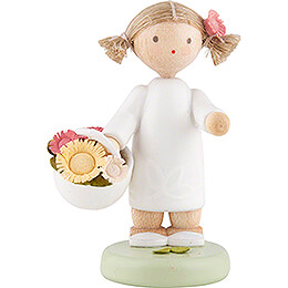 Flower Fairy Girl with Blossom Basket - 5 cm / 2 inch