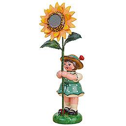 Flower Girl with Sunflower - 11 cm / 4,3 inch