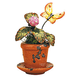 Flower Pot Clover Flower - Set of Three - 6 cm / 2,5 inch