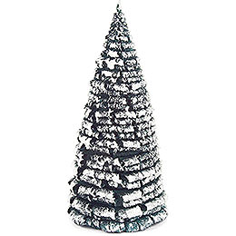 Frosted Tree - Green-White - 16 cm / 6.3 inch