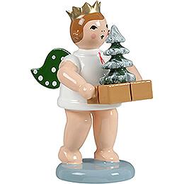 Geschenkeengel mit Krone und Baum - 6,5 cm