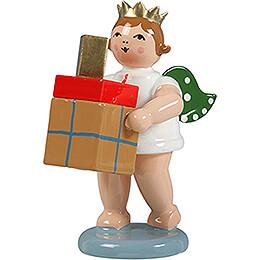 Geschenkeengel mit Krone und Paketen - 6,5 cm