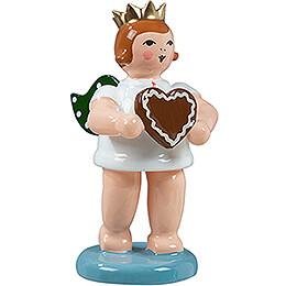Geschenkeengel mit Krone und Pfefferkuchenherz - 6,5 cm