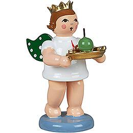 Geschenkeengel mit Krone und Weihnachtsteller - 6,5 cm