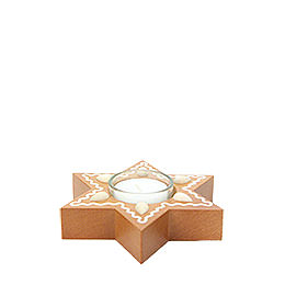 Gingerbread Star with Tealight - 3 cm / 1.2 inch