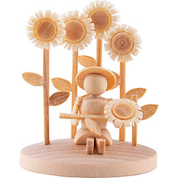 Girl with Sunflower - 3,5 cm / 1.4 inch