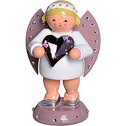 Glücksbote mit SWAROVSKI-Herz und Kerzensockel - 8 cm