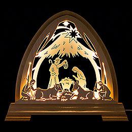 Gotischer Bogen Stall - 40x37 cm