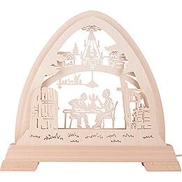 Gotischer Bogen Weihnachtsstube unbestückt - 42x42,5 cm