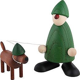 Gratulant Emil mit Waldi, grün - 9 cm