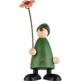 Gratulant Phillip mit Blume - 17 cm