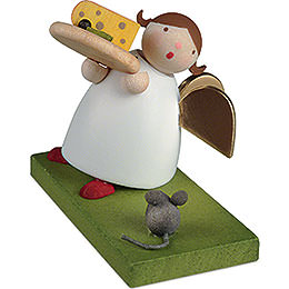 Guardian Angel with Cheese Plate - 3,5 cm / 1.3 inch