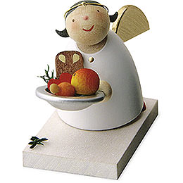 Guardian Angel with Christmas Plate - 3,5 cm / 1.3 inch