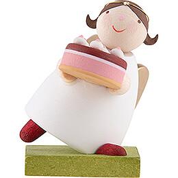 Guardian Angel with Fancy Cake - 3,5 cm / 1.3 inch